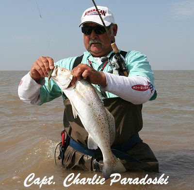 Nice Trout caught by Capt. Paradowski on Matagorda Bay.